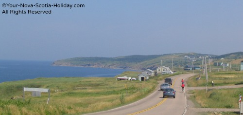 Cycling the Cabot Trail near Cheticamp