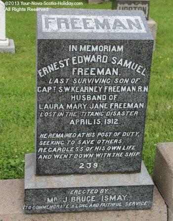 Titanic Victim Tombstone