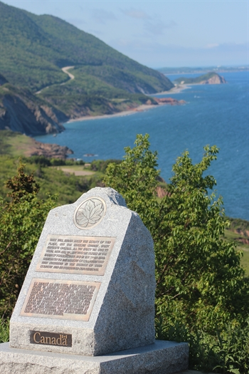 The Veteran's Monument sits on French Mountain on the Cabot Trail and in the Cape Breton Highlands National Park in northern Cape Breton. A beautiful spot overlooking the Atlantic Ocean!