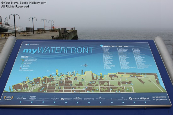 One of the many map displays along Halifax harbour