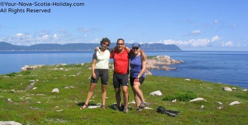Cyclists take a break at White Point