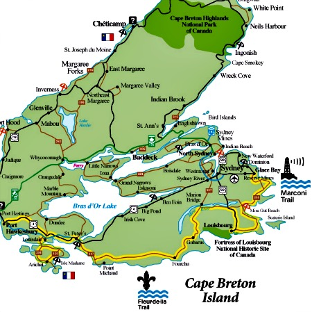 Louisburg Canada Map Fortress of Louisbourg Location