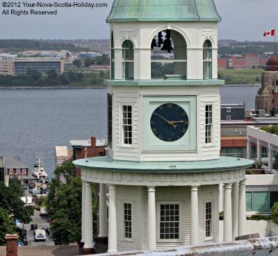 The Majestic Town Clock in Halifax, Nova Scotia