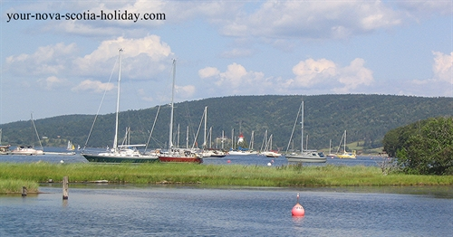 Baddeck sits on the shores of the Bras d'Or Lake and is a haven for all water sports.  A perfect spot for some vacation time in Cape Breton.
