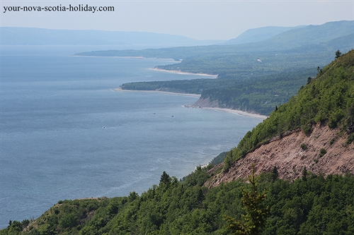 Awesome view from the Cape Smokey hiking trail looking south toward the Cabot Trail on Cape Breton Island in Nova Scotia.