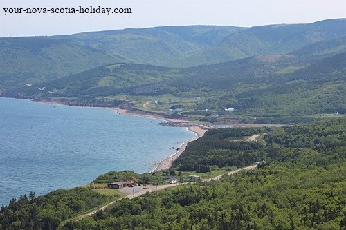 A view of Pleasant Bay from MacKenzie Mountain in the Cape Breton Highlands National park.