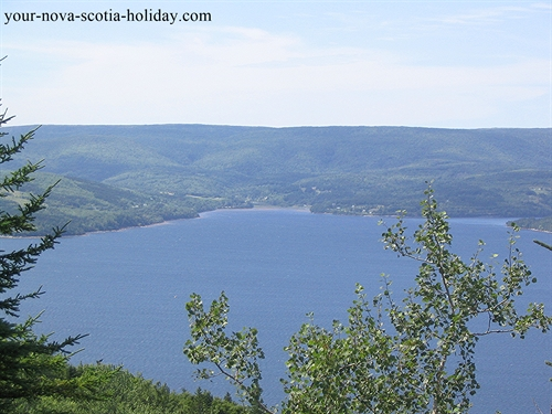 St. Ann's Bay on Cape Breton Island is gorgeous.  It is one of prettiest spots on the island.  This is a great view from a look-off on Kelly's Mountain.