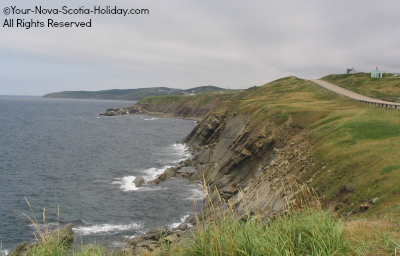 The Cabot Trail coastline heading north to Cheticamp