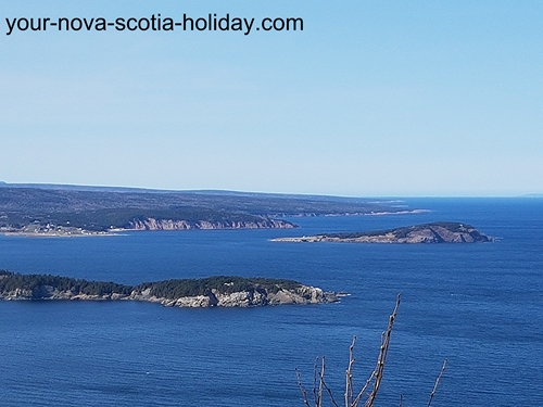 This is part of the view once you arrive at Stanley Point on the Cape Smokey trail. This is the Ingonish coastline looking north.