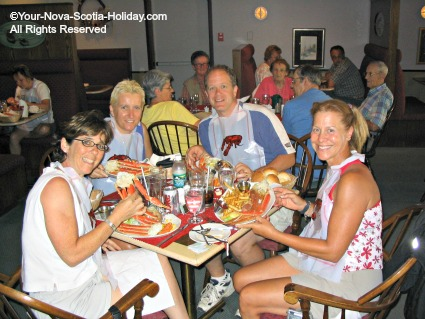 Seafood feast in Cheticamp, Cape Breton