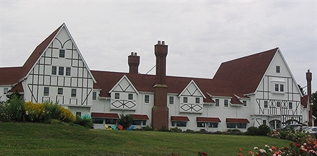 View of Keltic Lodge from Ingonish Beach