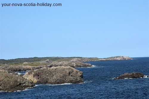 One of the many views that you'll get of the ocean and coastline on the Louisbourg Lighthouse trail.