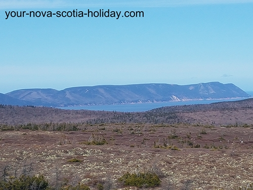One of the fantastic views as you hike to Mica Hill on the plateau in the Cape Breton Highlands National Park.