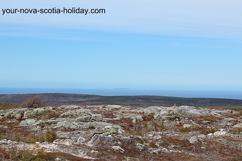 This is a great view of the highlands plateau as seen on the Mica Hill hiking trail. Cape Breton Highlands National Park.