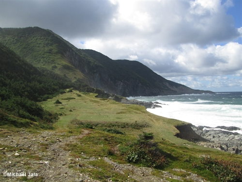 This is Money Point in looking north toward Cape North. A fantastic remote hiking trail in northern Cape Breton.