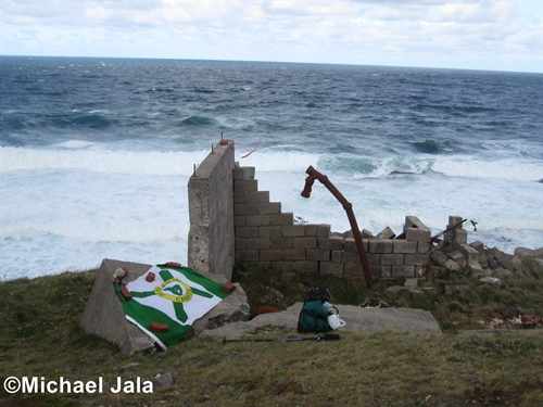 The ruins of various buildings still exist at Money Point.  They become very useful when protection is needed from the elements for lunch.