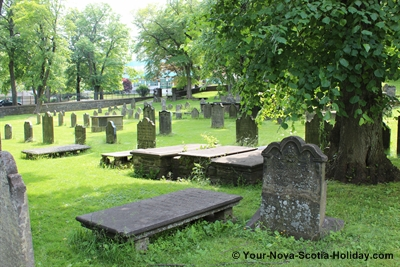 The Old Burying Ground where the oldest existing stones date from 1752.  There were approximately 12,000 buriels here over a period of 95 years.