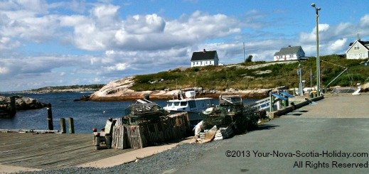 Quaint little fishing village of Peggy's Cove in Nova Scotia