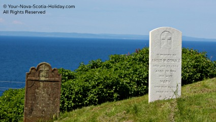 There is a pioneer cemetery beside the Stella Maris church. The headstones date from the early 1800s to present day.