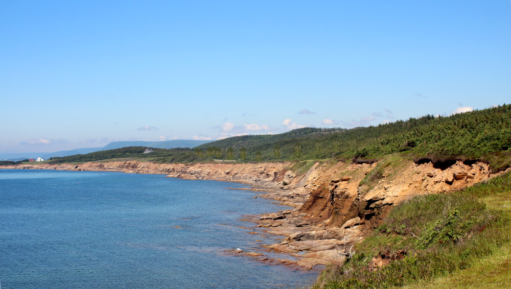 This is the Whale Cove area on Route 219 on the western coast of Cape Breton.  This is along the Ceilidh Trail leading to the Cabot Trail.