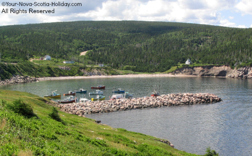 White Point Harbour along the Cabot Trail