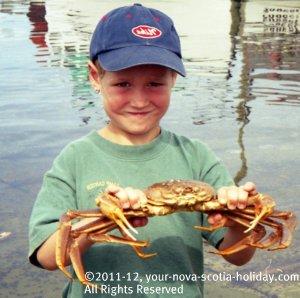 Enjoying the Louisbourg Crab Feast